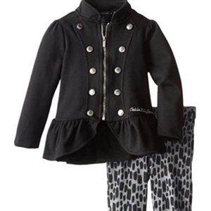 Designer brand Little Girls' Military Jacket Set